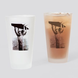 Rudolph Valentino Swimsuit Pi Drinking Glass