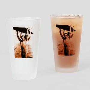 Rudolph Valentino Bronzed Swi Drinking Glass