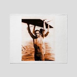 Rudolph Valentino Bronzed Swi Throw Blanket