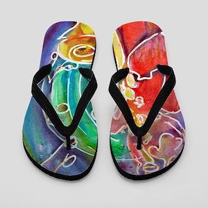 Music! Saxophone art! Flip Flops