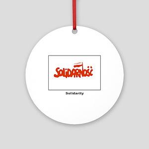 Solidarity Solidarnosc Flag Ornament (Round)