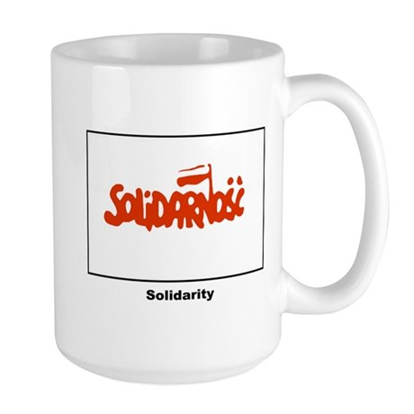 Solidarity Solidarnosc Flag Large Mug