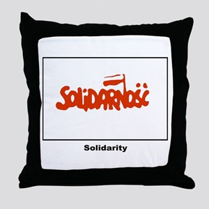 Solidarity Solidarnosc Flag Throw Pillow