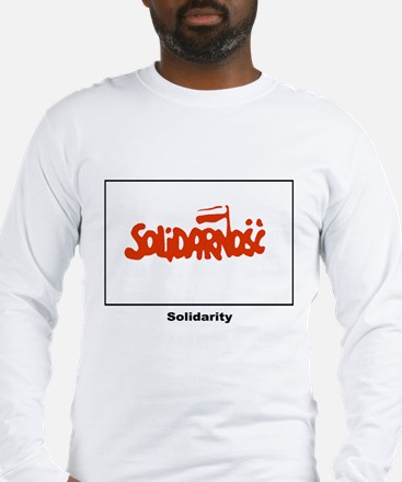 Solidarity Solidarnosc Flag (Front) Long Sleeve T-