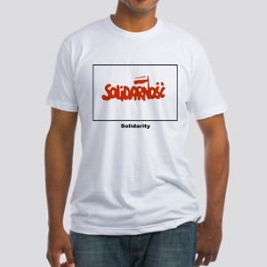 Solidarity Solidarnosc Flag (Front) Fitted T-Shirt