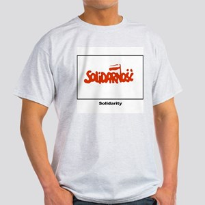 Solidarity Solidarnosc Flag Ash Grey T-Shirt
