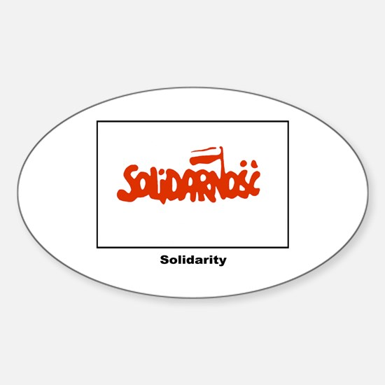 Solidarity Solidarnosc Flag Oval Decal