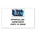Property lawyer's Sticker (Rectangle 10 pk)