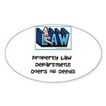 Property lawyer's Sticker (Oval 10 pk)