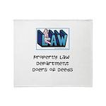 Property lawyer's Throw Blanket