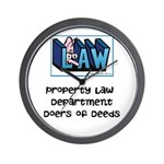 Property lawyer's Wall Clock