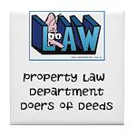 Property lawyer's Tile Coaster