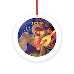Angel3-Shetland Pony Ornament (Round)
