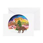 XmasMusic2-Shetland Pony Greeting Cards (Pk of 10)