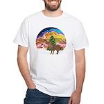 XmasMusic2-Shetland Pony White T-Shirt
