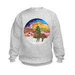 XmasMusic2-Shetland Pony Kids Sweatshirt