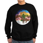 XmasMusic2-Shetland Pony Sweatshirt (dark)