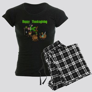 Funny Thanksgiving Women's Dark Pajamas