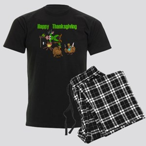 Funny Thanksgiving Men's Dark Pajamas