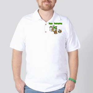 Funny Thanksgiving Golf Shirt
