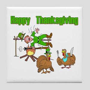 Funny Thanksgiving Tile Coaster