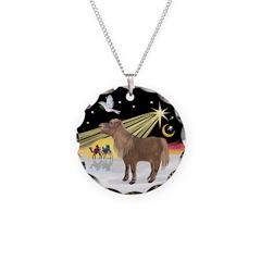XmasDove-Shetland Pony Necklace