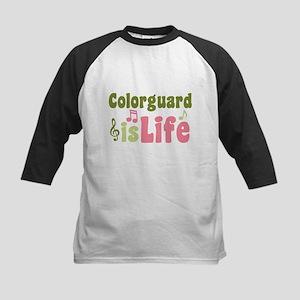 Colorguard is Life Kids Baseball Jersey