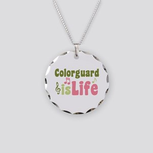 Colorguard is Life Necklace Circle Charm