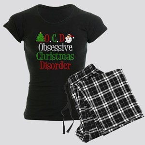 Christmas Crazy Women's Dark Pajamas