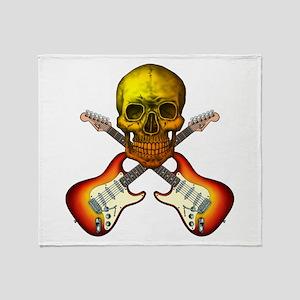 Skull & Guitar Throw Blanket