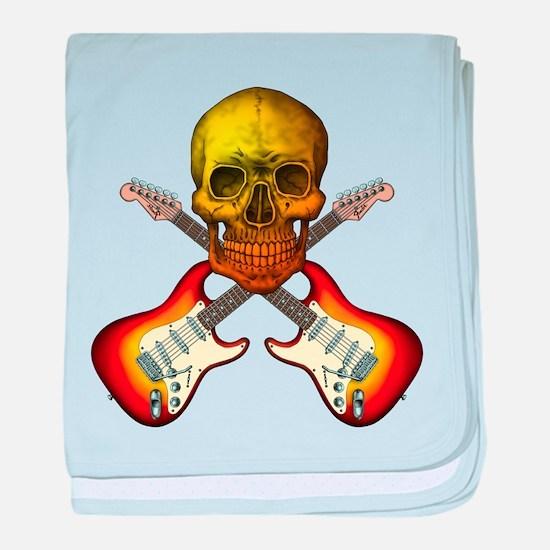 Skull & Guitar baby blanket