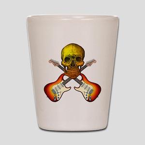 Skull & Guitar Shot Glass