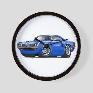 1970 Coronet Blue-Black Car Wall Clock