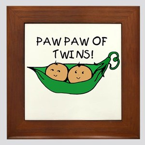 Paw Paw of Twins Framed Tile