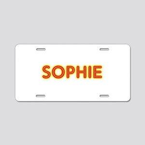 Sophie in Movie Lights Aluminum License Plate