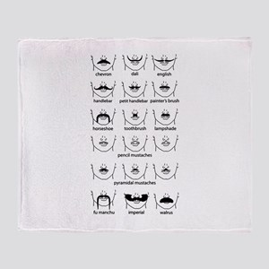 Moustache Chart Throw Blanket
