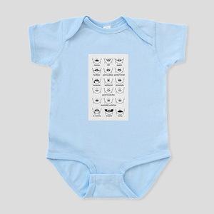 Moustache Chart Infant Bodysuit