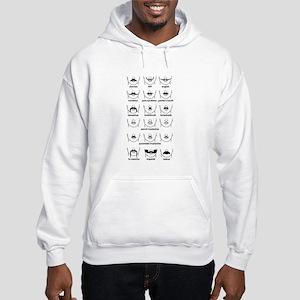 Moustache Chart Hooded Sweatshirt