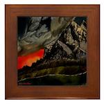 Mountain Sunset Framed Tile