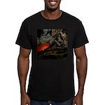 Mountain Sunset Men's Fitted T-Shirt (dark)