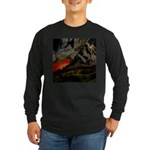Mountain Sunset Long Sleeve Dark T-Shirt