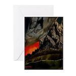 Mountain Sunset Greeting Cards (Pk of 10)