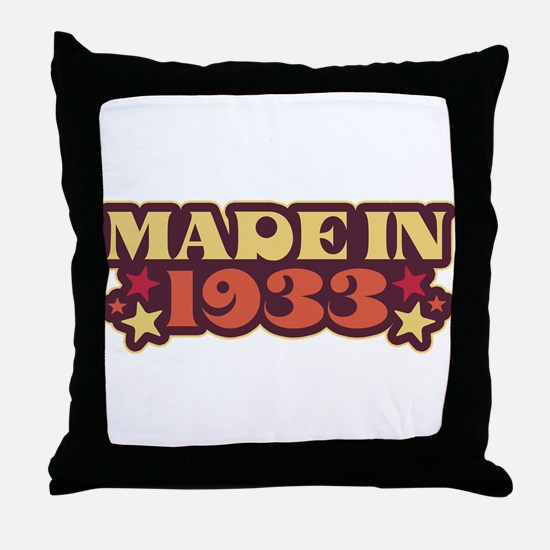 Made in 1933 Throw Pillow
