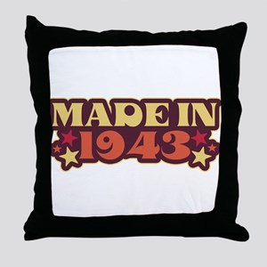 Made in 1943 Throw Pillow