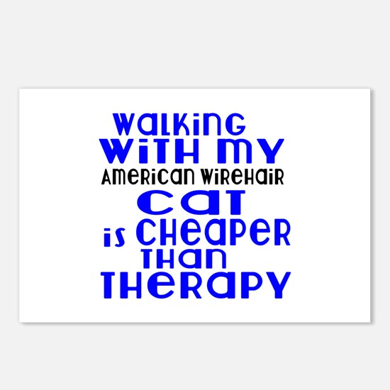 Walking With My american Postcards (Package of 8)
