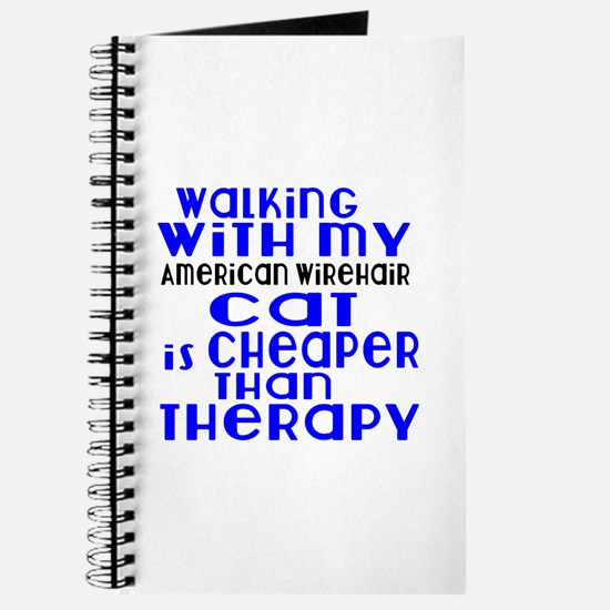 Walking With My american wirehair Cat Journal