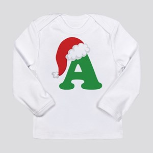Christmas Letter A Alphabet Long Sleeve Infant T-S