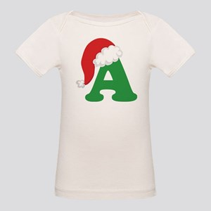 Christmas Letter A Alphabet Organic Baby T-Shirt