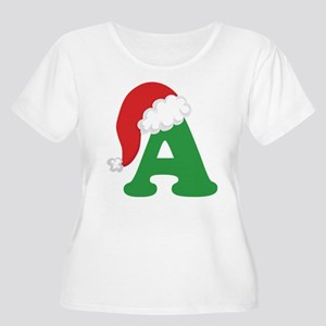 Christmas Letter A Alphabet Women's Plus Size Scoo