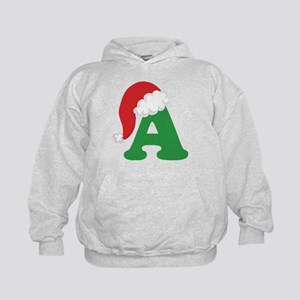 Christmas Letter A Alphabet Kids Hoodie